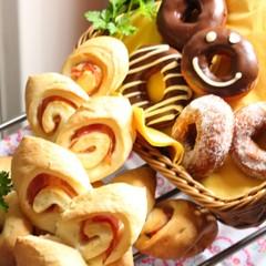 オリーブオイルで作れるパン②ベーコンエピ・デコドーナツシュガードーナツ