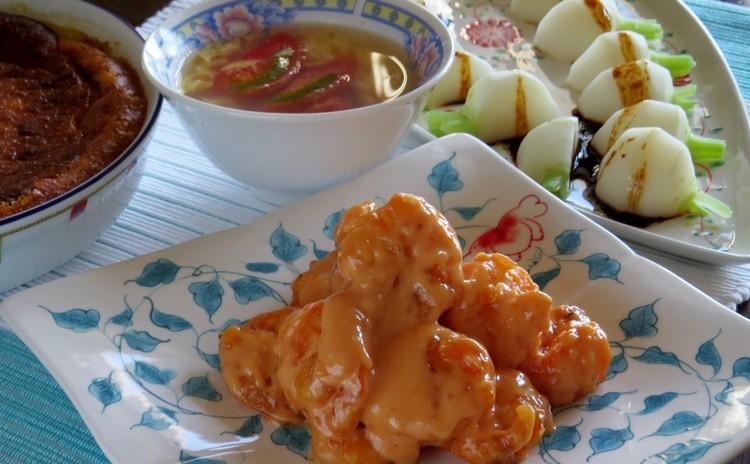 コク旨!秘密の隠し味で作るエビマヨをメインに♪おうちで中華料理