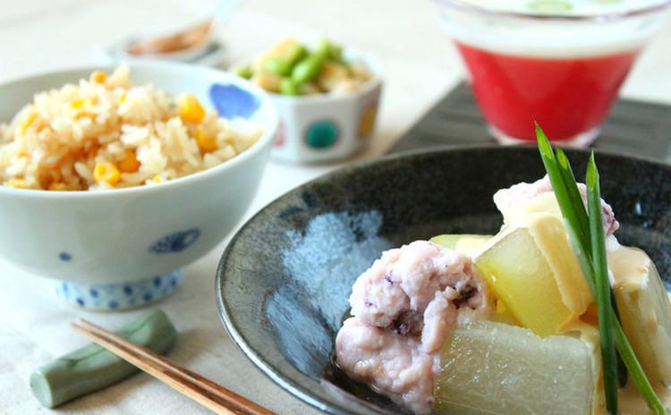 【子連れ限定日】一人1杯イカをさばいて簡単和え物&真丈&冬瓜の煮物
