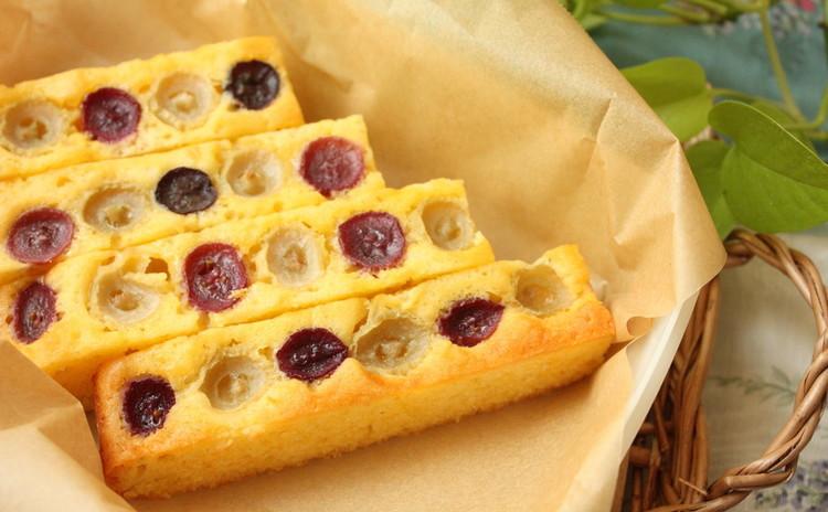 秋の味覚、ぶどうの美味しさがギュッと詰まったベイクドケーキ&葡萄ジャム
