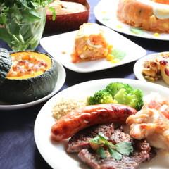 世界のご馳走ブラジル♪シュラスコ風焼き肉と南瓜のグラタンでハロウィン!