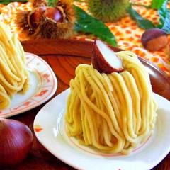 旬の今だけ!和栗モンブラン&ハロウィンのお菓子☆キャラメルアップル