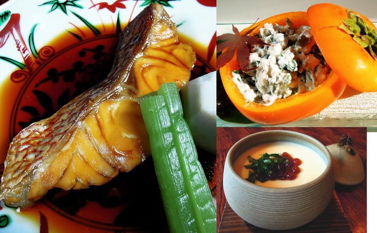 プロが作る煮魚と旬を楽しむ白和えの他、のど越しが命!料亭の茶碗蒸しなど