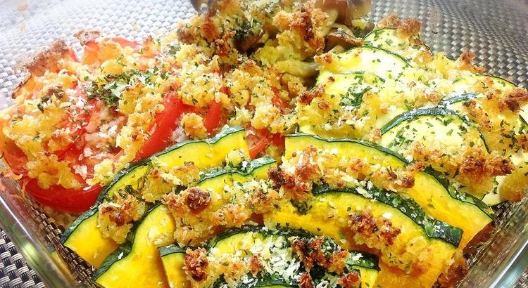 秋野菜のパン粉焼き
