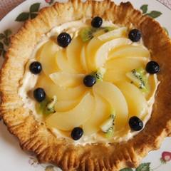 東北食材「菜種油」で桃とベリーのタルト・メルバ風&桃のジェラートアイス
