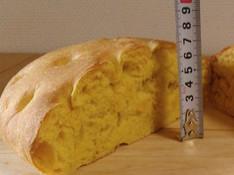 料理レッスン写真 - 極厚7cm♥ふわもちっ♥かぼちゃの特大フォカッチャ♥離乳食にもオススメ