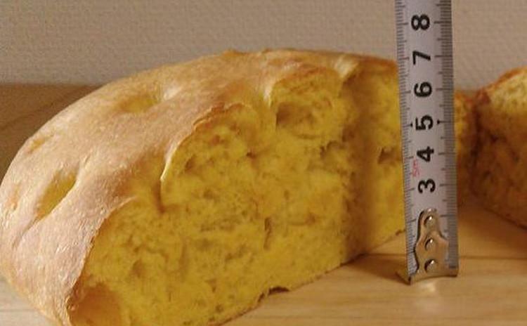 極厚7cm♥ふわもちっ♥かぼちゃの特大フォカッチャ♥離乳食にもオススメ