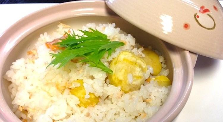 秋鮭と栗の炊き込みご飯