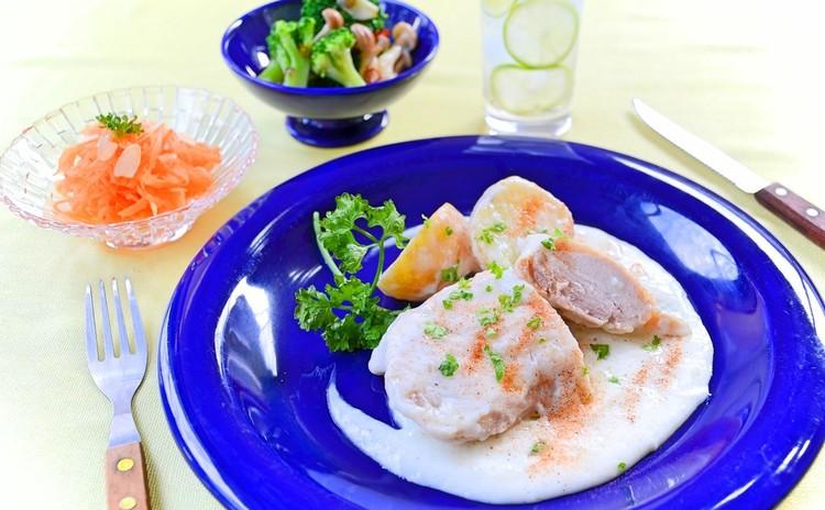 チキンとおジャガのブランケット&保存可能な旬野菜のサイドディッシュ