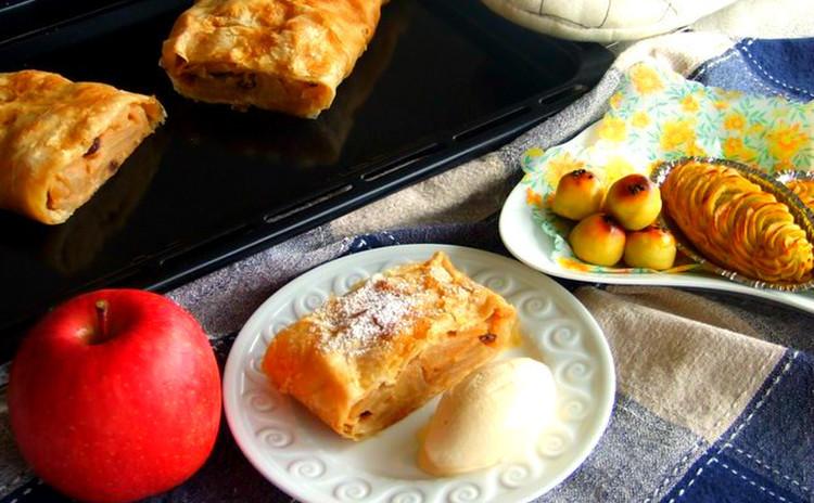 旬のリンゴのウィーン菓子☆アプフェルシュトゥルーデル&スイートポテト