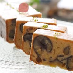 旬の味覚、栗の王様!利平栗の自家製渋皮煮を贅沢に使った焼き菓子!