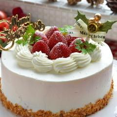 ナッペと絞りをマスターしよう♪本格クリスマスケーキ15cm(1人1台)