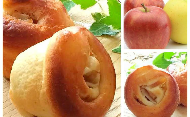 旬のりんごを使った自家製天然酵母のアップルロール【持ち帰り生地付き】