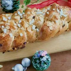 天然酵母のドイツパン♡クリスマス仕様の四つ編みパンレッスン(ランチ付)