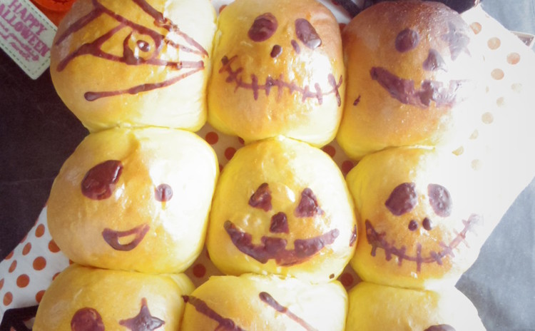【親子対象】手ごね!ちぎりパン2種作ろう♪ハロウィン向け&ミルク風味