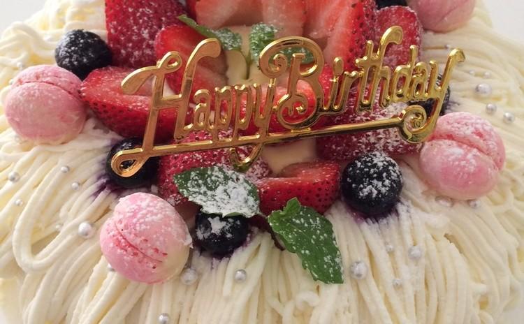 クリスマスにぴったり♪リース型のデコレーションケーキ♪(夜レッスン)