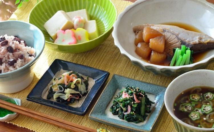 鰤大根&赤飯&赤だし♡祝い膳にもお勧めな一汁三菜の和食献立です♪