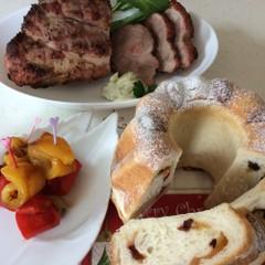 クグロフ型で美味しくオシャレな白神パンとローストポークで手軽に華やかに
