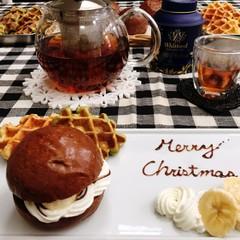 しっとりフワフワなチョコパンとイーストワッフル♪