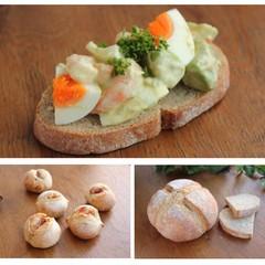 デリ付き!ホシノ酵母と国産小麦でムッチリだけど軽い!黒パン系2種