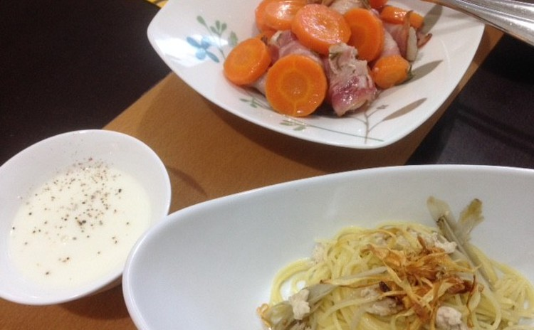 「かぶ」「ごぼう」「根菜」旬のお野菜たっぷりイタリアン