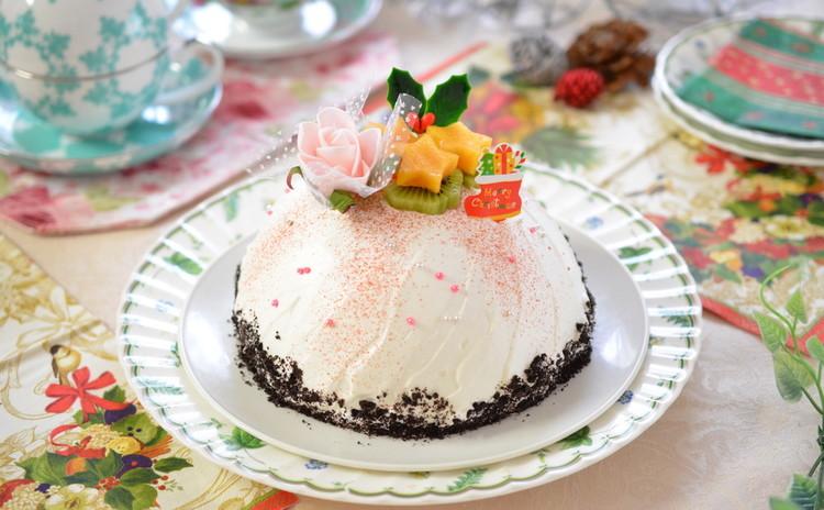1日限定!クリスマスケーキレッスン☆ベリーチーズムースのズコット♪