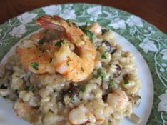 料理レッスン写真 - おもてなしにも普段にも旨みが凝縮、簡単えびとドライポルチーニのリゾット