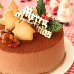 ☆かわいいクッキーも手作り♪チョコレートケーキでクリスマス☆