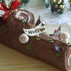 クリスマス☆ショコラとベリーのブッシュドノエル&ブールドネージュ