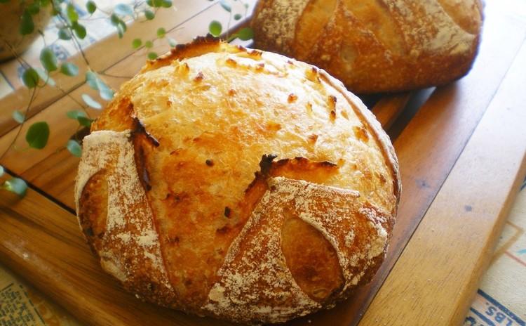 カンパーニュ(田舎パン)【発芽玄米酒*酒粕酵母】(実習)