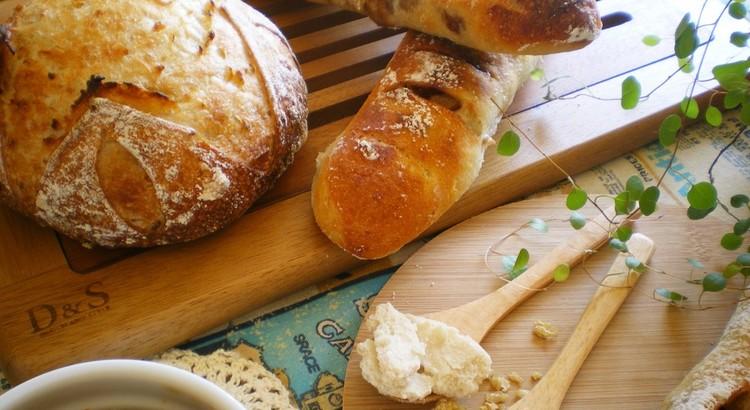 日程追加!発芽玄米酒と濁酒✿2種の酒粕酵母で田舎パン&林檎スティック♡