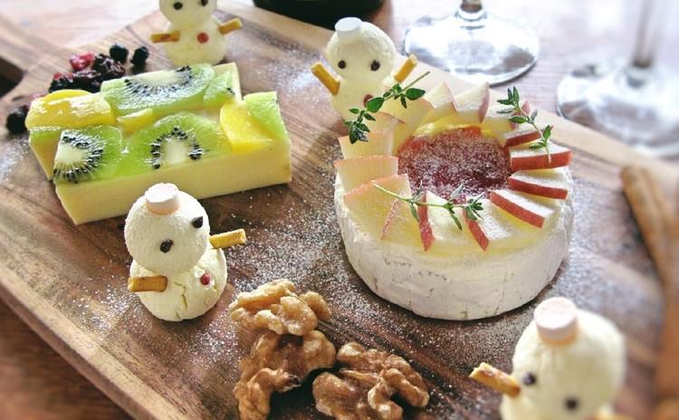 身近な食材で作る、3種チーズのおもてなしプレート♪