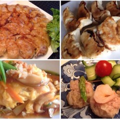 200人超☆鉄鍋風vs手作り餃子&エビ焼売と豪華海鮮天津飯で中華コース