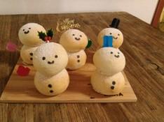 料理レッスン写真 - 白パンでふわふわ ゆきだるぱん 5体♡ パン作りを基礎の基礎から!