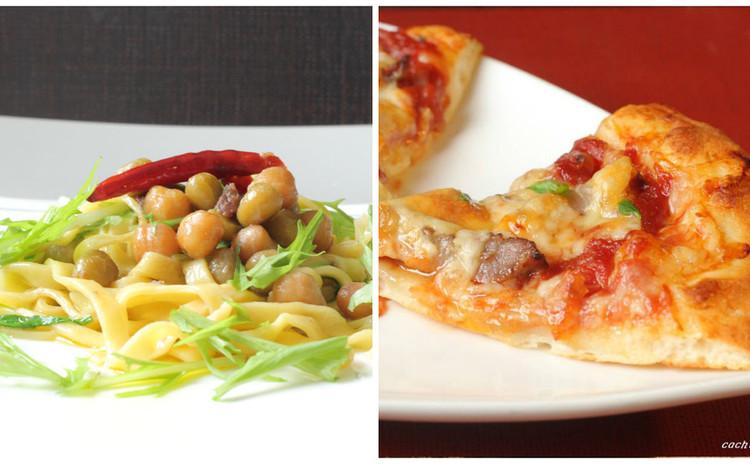 トマトソースから手作り!むちむちピザ&アンチョビ任せの簡単手打ちパスタ