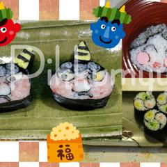 可愛い&簡単❀赤鬼・おたふく・三巴❀パーティ・お弁当に!