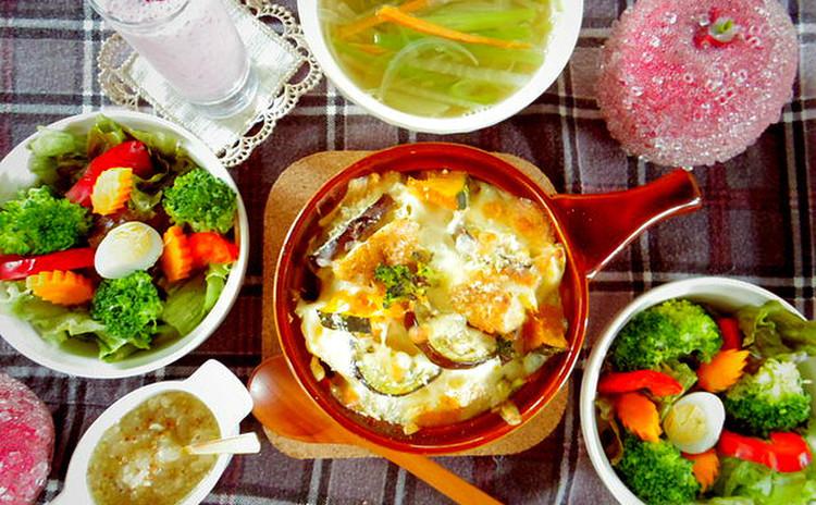 新発見♪とろ~り♪手作りソースのマカロニグラタン*冬野菜盛り沢山♪献立