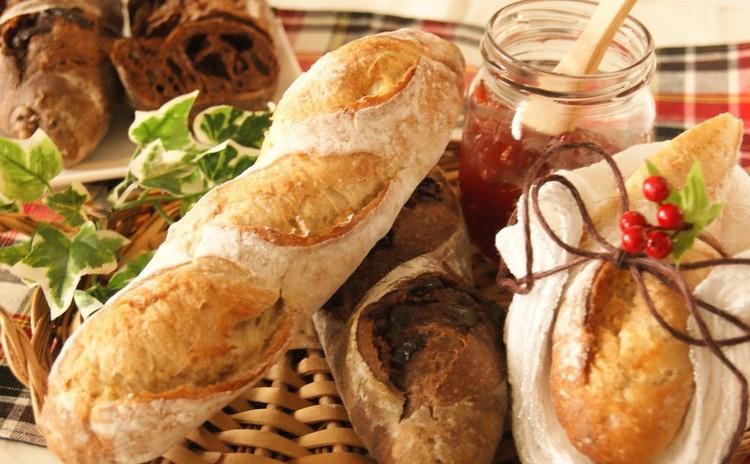 ホシノ天然酵母で作るハードパン!プレーン&Wチョコ~2種のミニバゲット