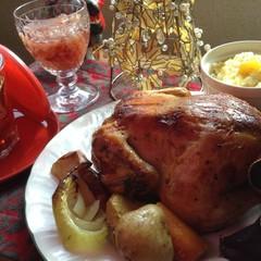 ☆クリスマスパーティー♪ドーンとチキン丸!ピクルス♪リゾット