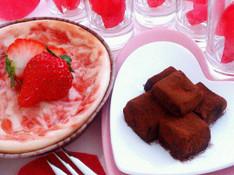 料理レッスン写真 - Valentine【生チョコシャンパーニュ♡ストロベリーチーズケーキ】