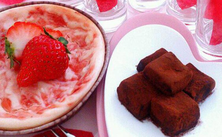 Valentine【生チョコシャンパーニュ♡ストロベリーチーズケーキ】