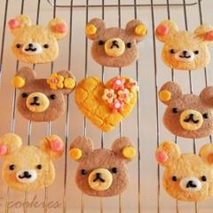 作って楽しい♡食べて美味しい♡くまのカラークッキー&バナナ胡桃パウンド