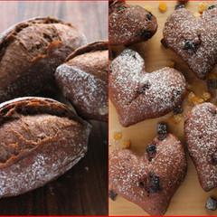 バリッ!と焼けるカカオフランスとハートのショコラフランス(オレンジ)他