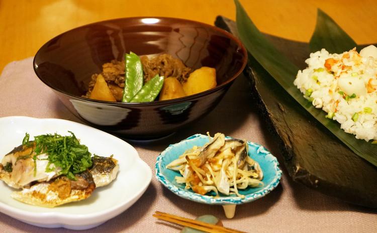 【子連れ限定日】鰯の手開き!鰯料理2種&牛肉とじゃがいものこっくり煮