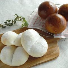 【ココナッツオイル使用】ふわふわ白パン&濃厚コーヒーパン♡