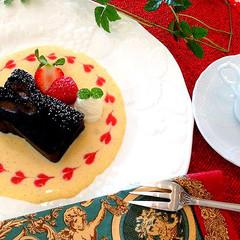 グリヨット入り、バレンタインショコラケーキ