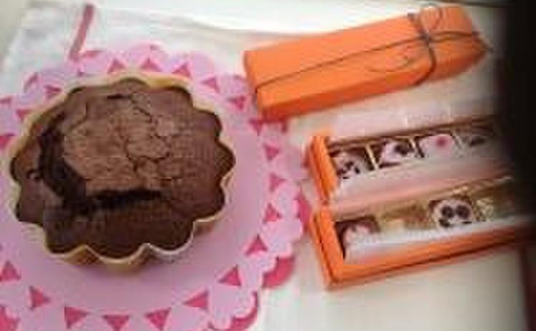 バレンタイン♪本命本格ガトーショコラ&ヘルシーご褒美チョコケーキ