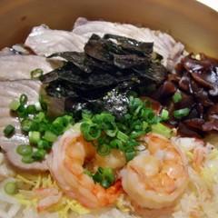 【冬のご馳走】 マグロの蒸寿司、牡蠣の摺り流し、ナタ割大根