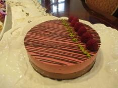 料理レッスン写真 - 糖質制限でショコラと木苺のアントルメ!可愛いケーキです!