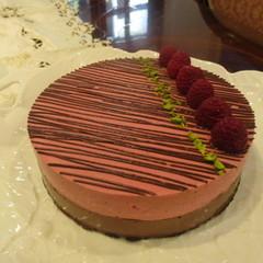 糖質制限でショコラと木苺のアントルメ!可愛いケーキです!